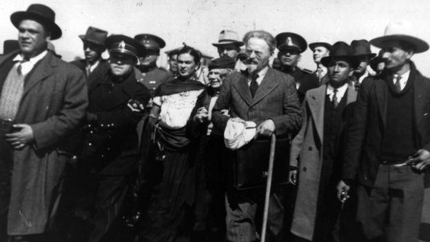 Diego Rivera, Frida Kahlo, León Trotski