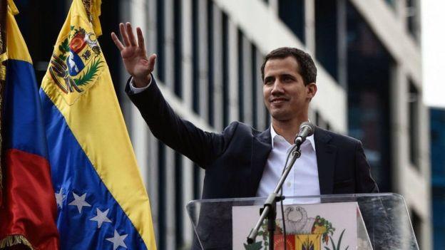 Hoggaamiyaha mucaaradka Juan Guaido