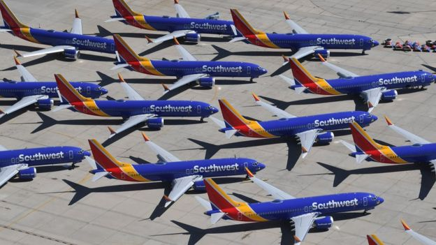Southwest havayollarına ait uçaklar.