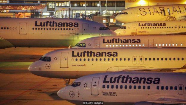 Aviões da Lufthansa