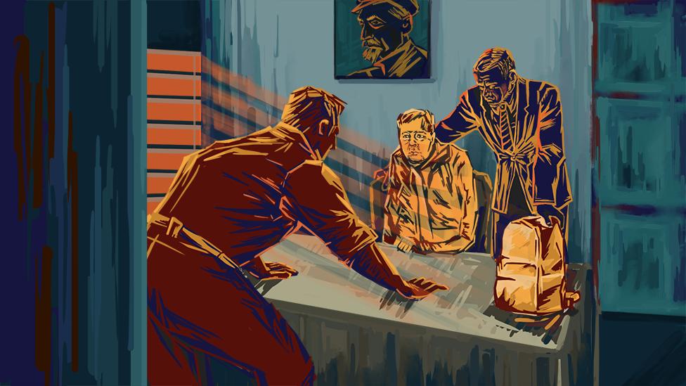 Adentro de una ofician de FSB