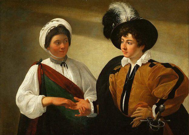 Caravaggio's painting, The Fortune Teller