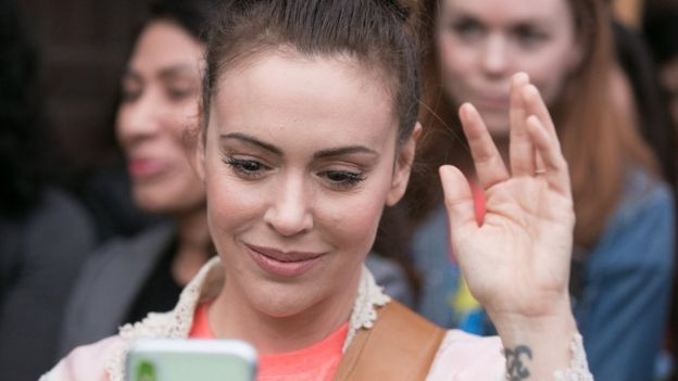 A picture of Alyssa Milano, whose tweet sparked a worldwide trend