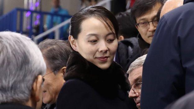 Kim Yo-jong, hermana del líder norcoreano.
