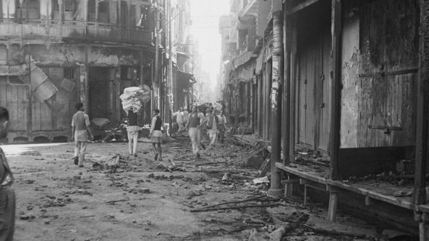 Wrecked Buildings After Communal Riots In Amritsar Punjab During The Partition Of British India