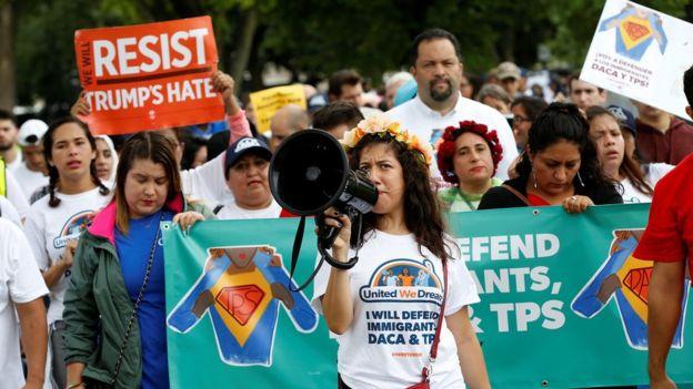 Marcha a favor del TPS
