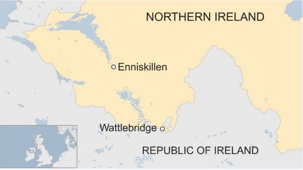 Map Of Republic Of Ireland Showing Counties.Fermanagh Bomb Psni Plea For Political Progress After Murder Bid