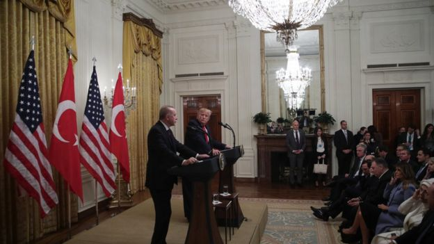 Beyaz Saray'daki Trump-Erdoğan
