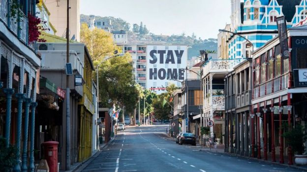 Street view in Cape Town