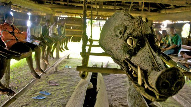A Haus Tambaran or house of spirits in Kaminimbit