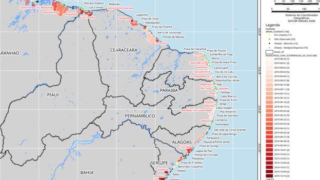 Mapa feito pelo Ibama