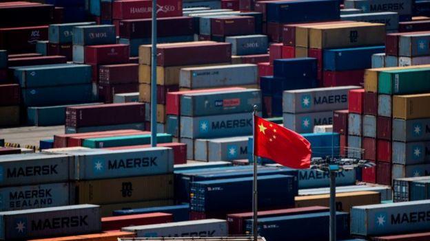 中國洋山港的一個貨櫃碼頭