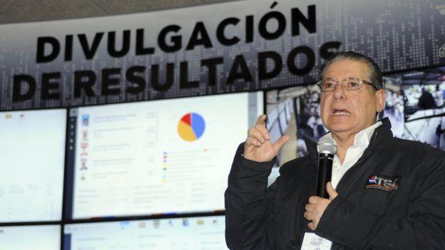 El presidente del TSE de Honduras, David Matamoros