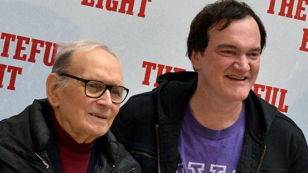 Ennio Morricone with Quentin Tarantino