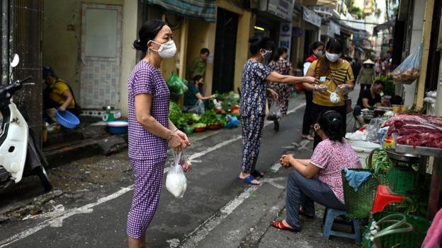 Sebuah jalan di Hanoi