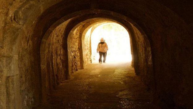 Túnel em Spinalonga