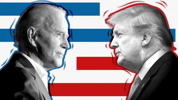 Joe Biden frente a Donald Trump