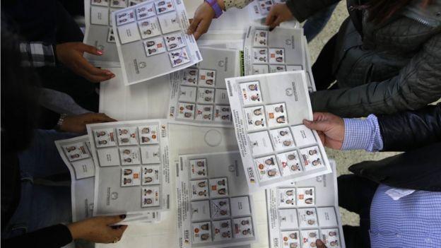 Escrutinio de votos en Colombia