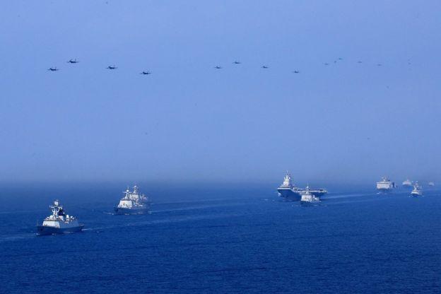 4月12日,中國舉行史上最大規模海上閲兵。