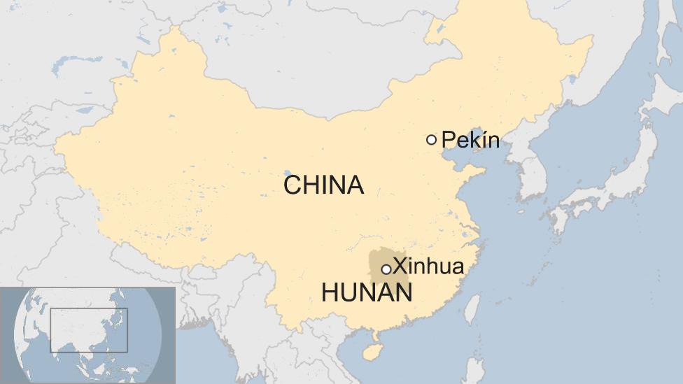 Mapa Xinhua, en China.