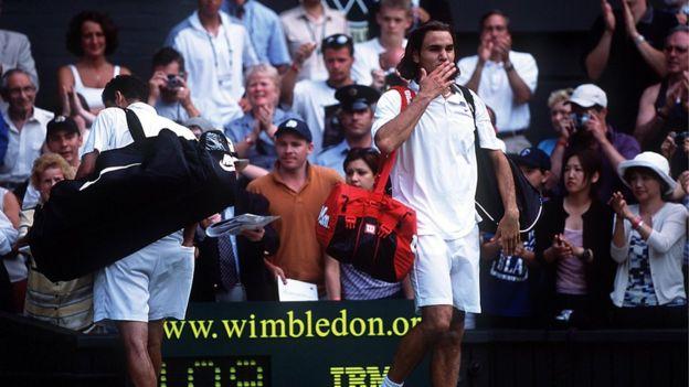 Federer y Sampas en 2001.