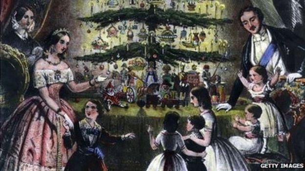 Coburg gives Christmas tree to Windsor - BBC News