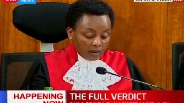 Elle blâme la Commission électorale du pays (IEBC) et son président pour avoir donné des résultats avant d'avoir reçu tous les procès-verbaux.