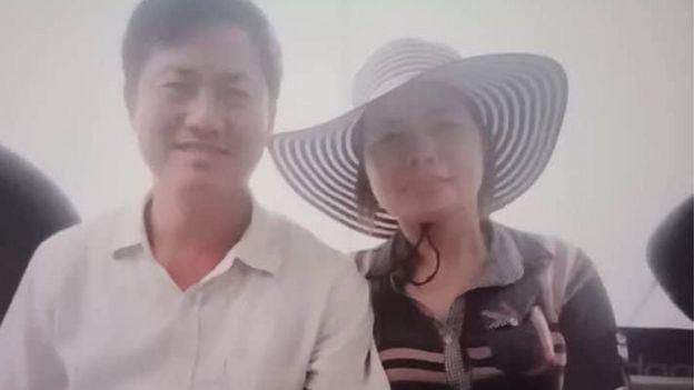 Bà Lê Thị Thập cùng chồng, ông Lưu Văn Vịnh trước khi ông bị bắt