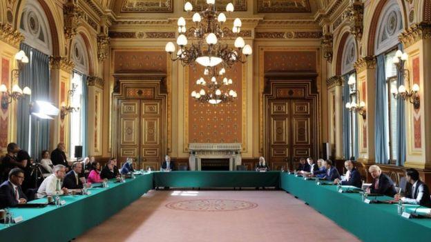 Встреча британского кабинета министров