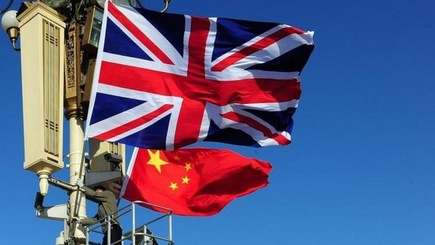 UK and Chinese flags
