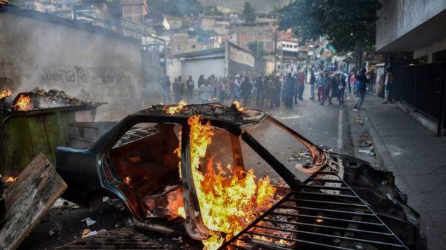 Protestas en Cotiza.
