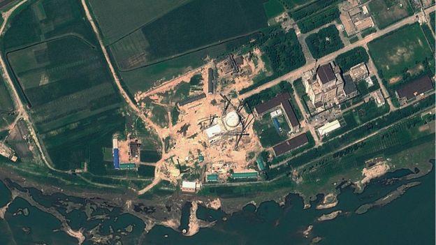 Vista aérea del complejo nuclear de Yongbyon.