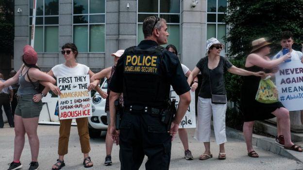 Protesta contra ICE.
