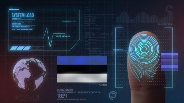 Ilustración de la identidad digital en Estonia.