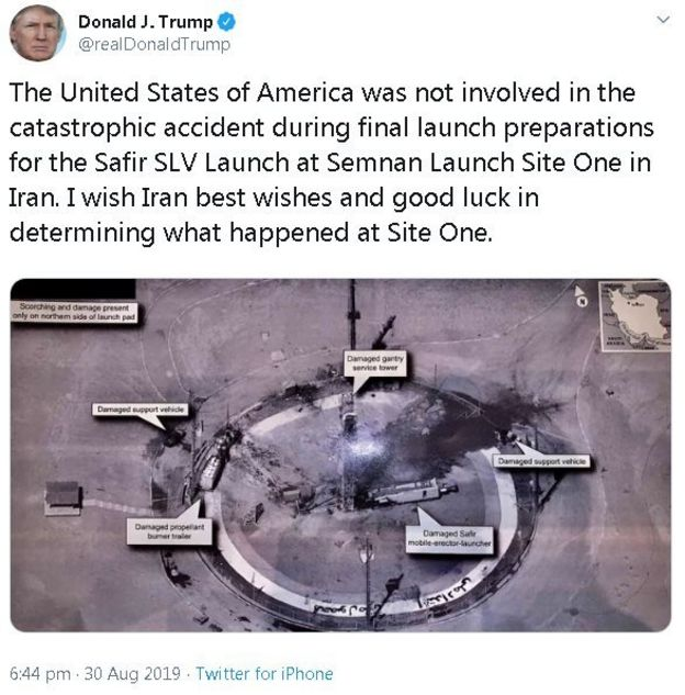 Did Donald Trump tweet classified military imagery? - BBC News