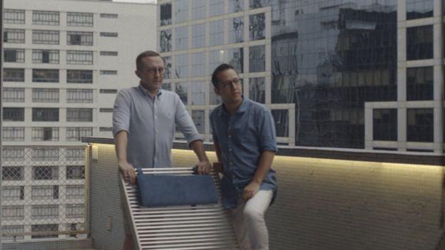 Mauro Fiatti e o marido, Caio