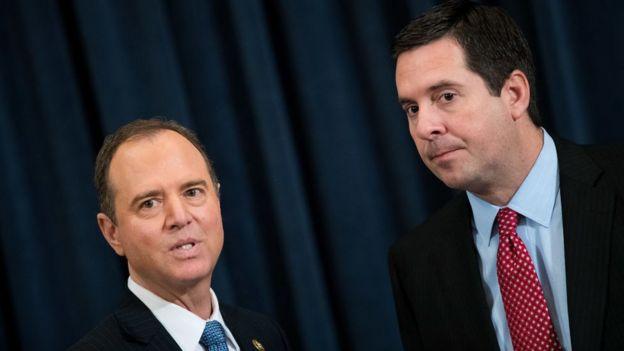 El demócrata Adam Schiff y el republicano Devin Nunes cambiaron sus roles en el Comité de Inteligencia de la Cámara de Representantes tras las elecciones de noviembre.