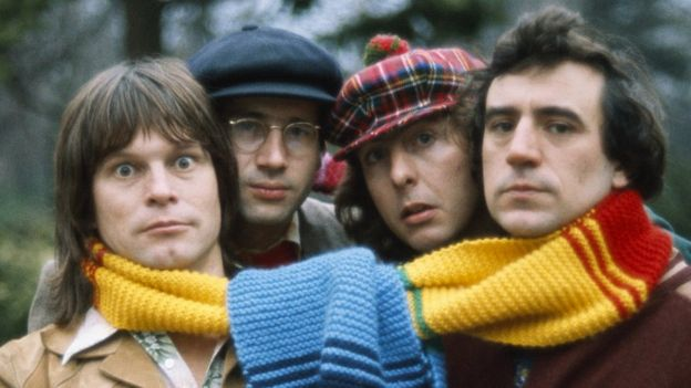 (Left to right) Monty Python's Terry Gilliam, Neil Innes, Eric Idle and Terry Jones