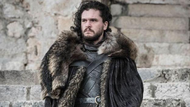 Jon Snow no final de Game of Thrones.