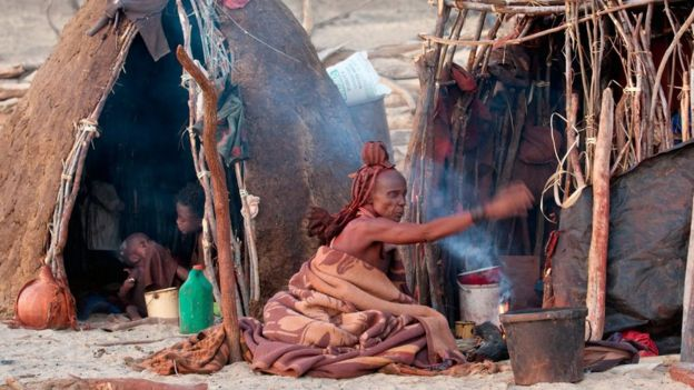 When Jules Davidoff visited a Himba 'kraal', he found no traces of western influence in their way of life