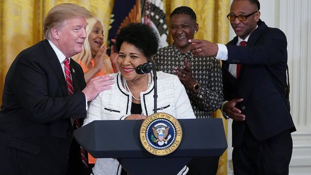 Donald Trump with Alice Marie Johnson