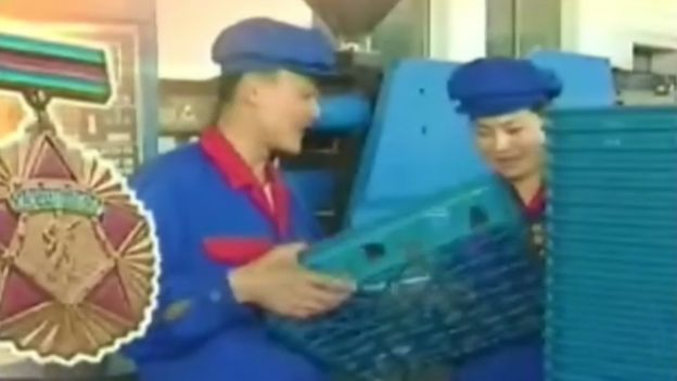 Screengrab of a North Korean factory