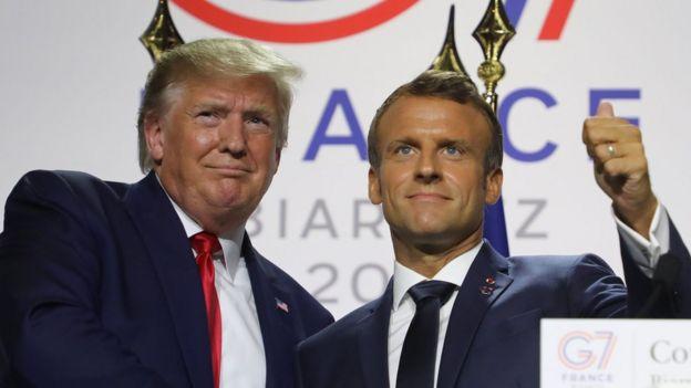 مکرون و ترامپ