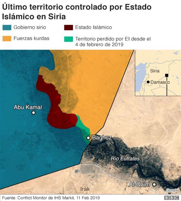 Último territorio ocupado por EI en Siria