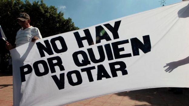 protesta contra las elecciones en Nicaragua 2016