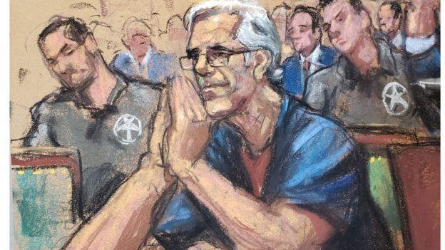 Джеффрі Епштейн на засіданні суду