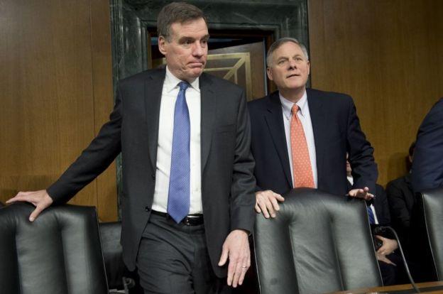Sen Warner (left) and Sen Burr