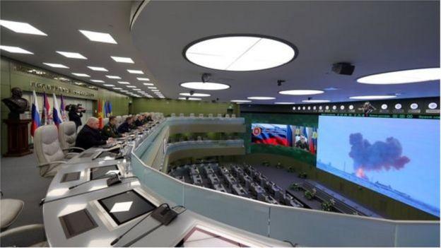 Tổng thống Nga Vladimir Putin được cho là giám sát vụ thử tên lửa siêu thanh hồi tháng 12