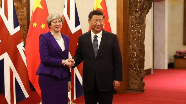THERESA MAY & XI JINGPING