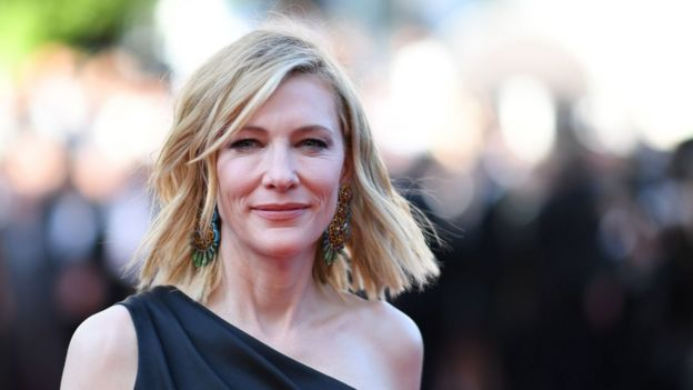Cate Blanchett poses at the 71st edition of the Cannes Film Festival in Cannes, southern France on 12 May 2018